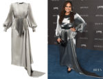 Ava DuVernay's Gucci Pleated Lamé Gown