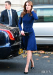 Catherine, Duchess of Cambridge Was A Royal In Royal Blue For The Launch Of The National Emergencies Trust