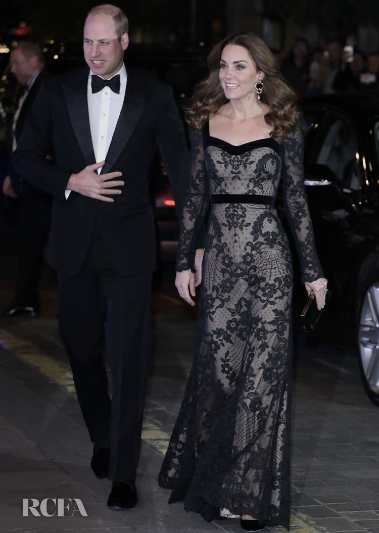 Catherine, Duchess of Cambridge Wore Alexander McQueen To The Royal Variety Performance