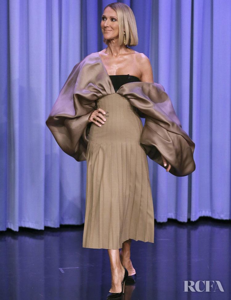 Celine Dion Wore Schiaparelli Haute Couture On Jimmy Fallon