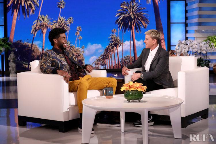 Chadwick Boseman In Etro - The Ellen DeGeneres Show