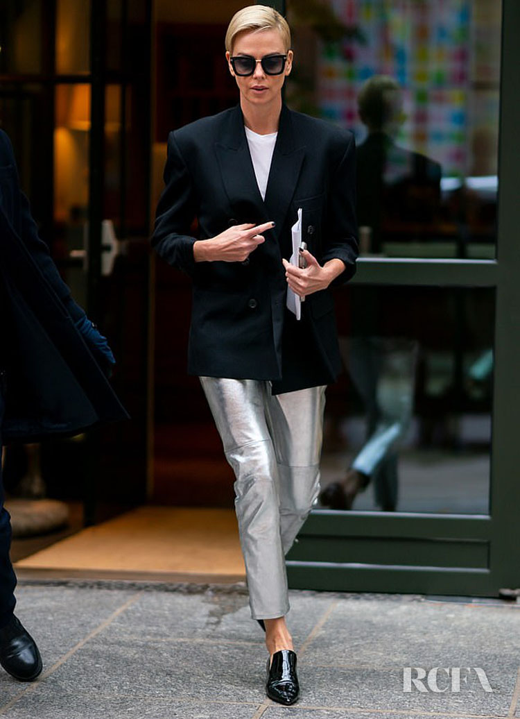 Charlize Theron's Day Time Chic Look