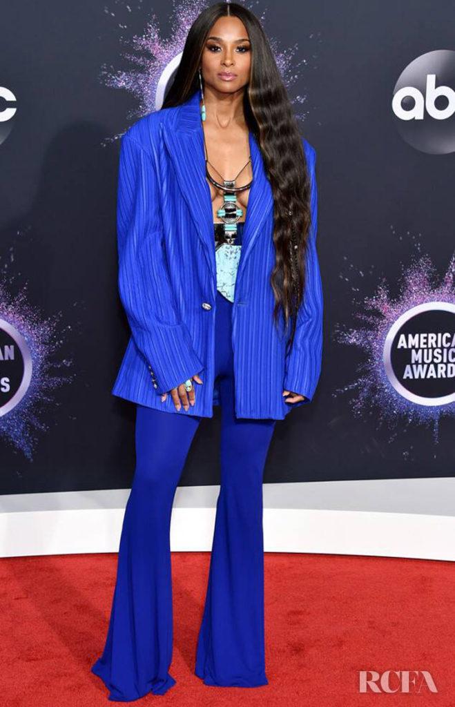 American Music Awards 2020 Full Show.Ciara In Blue Balmain 2019 American Music Awards