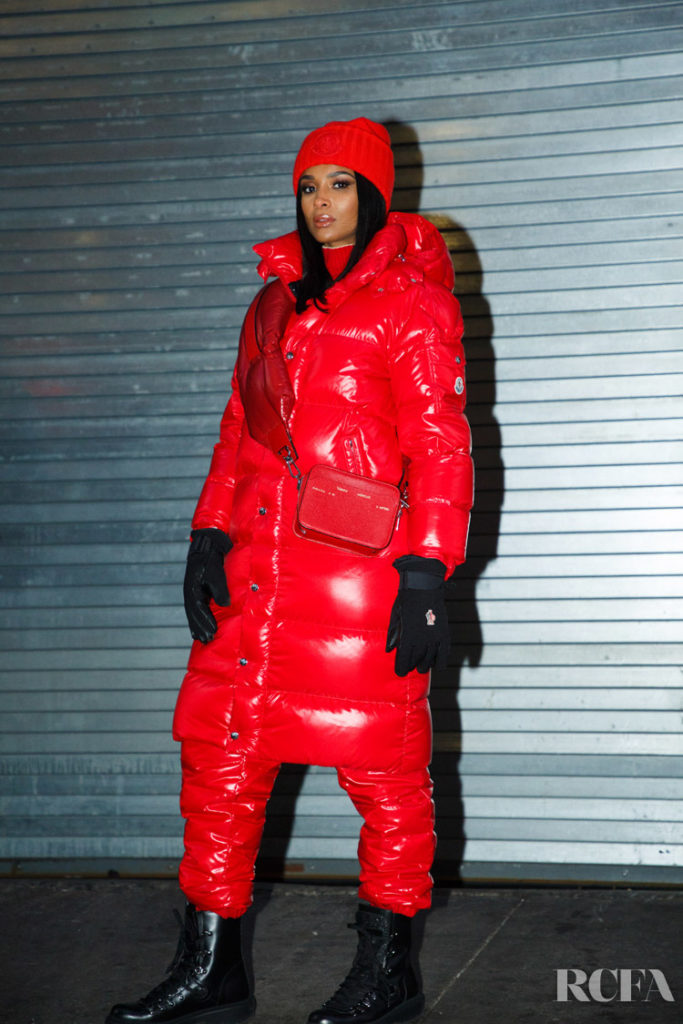 Ciara Rocks A Red Puffy For The Macy's Thanksgiving Day Parade