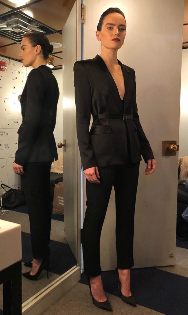 Daisy Ridley Suits Up For Jimmy Fallon