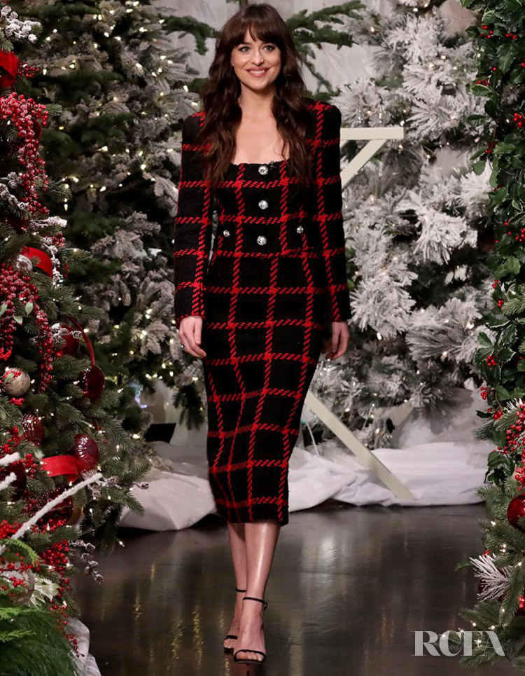 Dakota Johnson In Alessandra Rich - The Ellen DeGeneres Show