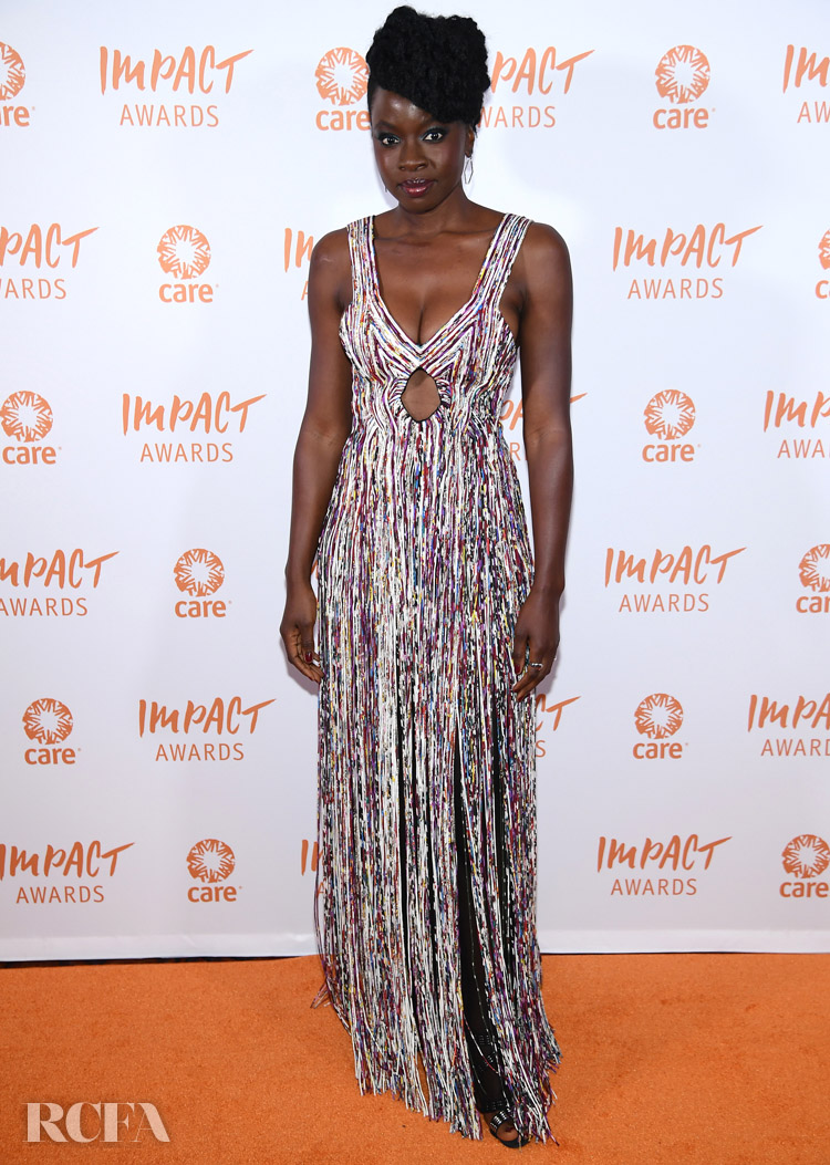 Danai Gurira Wore Another Fringed Gabriela Hearst Look To The 2nd Annual CARE Impact Awards Dinner
