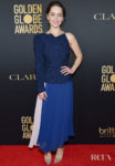 Emilia Clarke Wore Roland Mouret To The HFPA And THR Golden Globe Ambassador Party