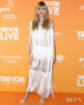 Heidi Klum Wore Julien Macdonald To The 2019 TrevorLive Los Angeles Gala