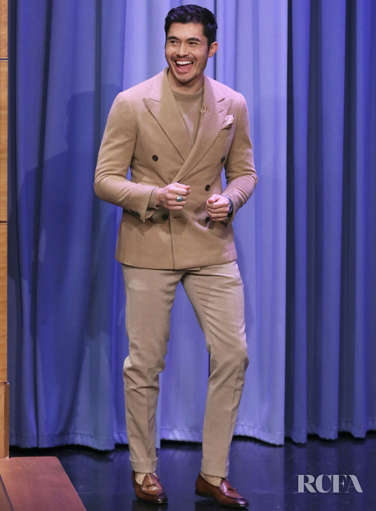 Henry Golding's Love Affair With Ralph Lauren Continues On The Tonight Show Starring Jimmy Fallon