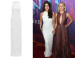 Idina Menzel's Galvan Cannes Sequinned Gown