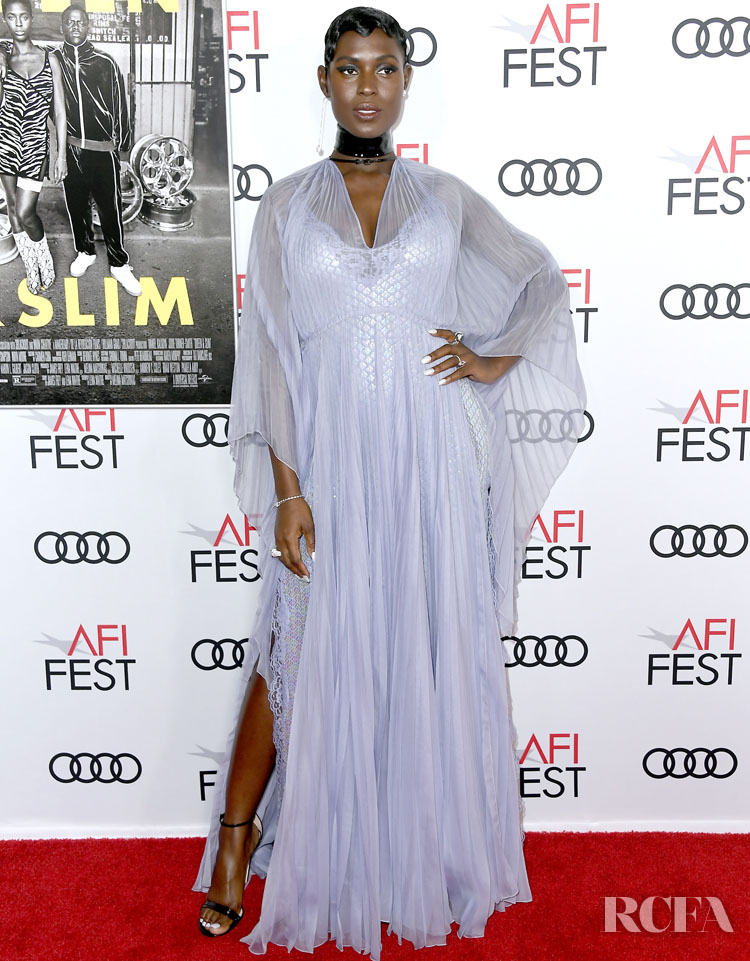 Jodie Turner-Smith & Joshua Jackson Are Gorgeous In Gucci For The 'Queen & Slim' LA Premiere