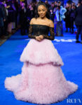 Karla-Simone Spence Looked Divine In Ong-Oaj Pairam For The 'Blue Story' London Premiere