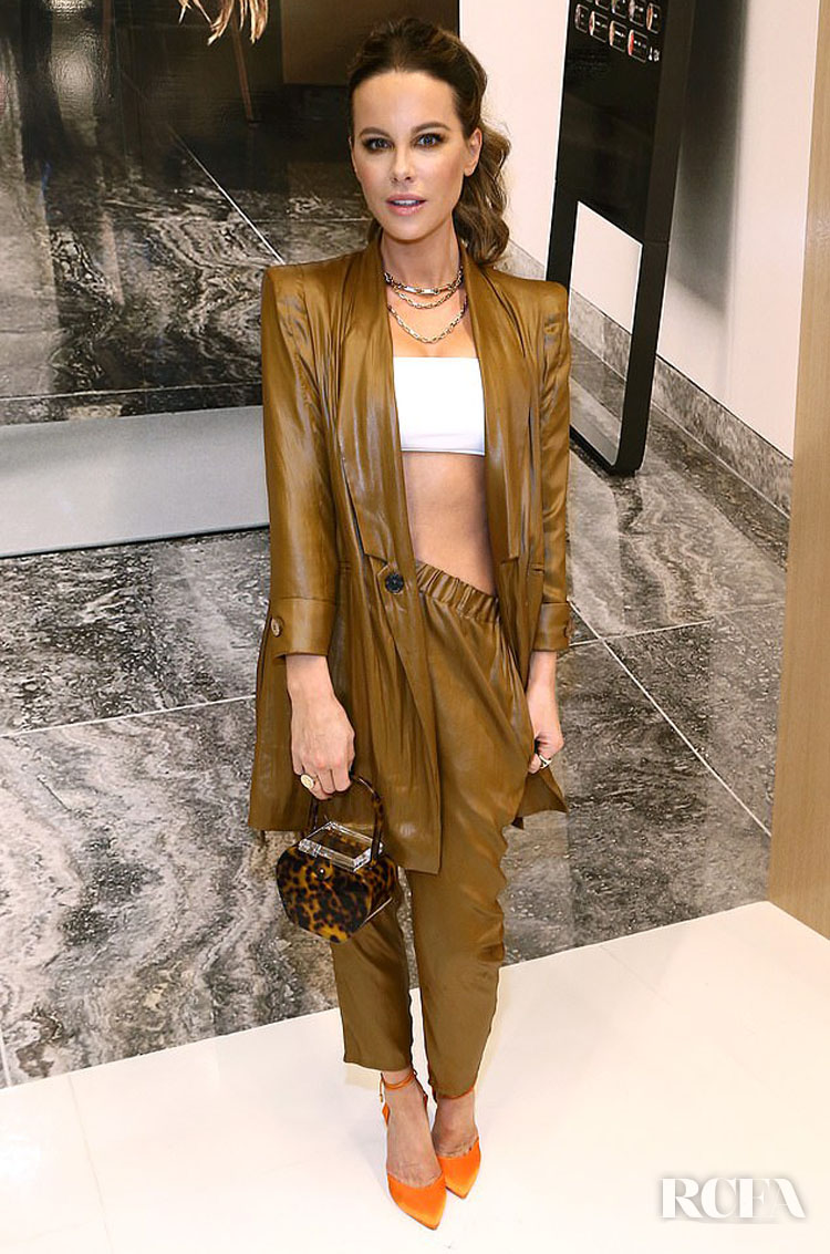 Kate Beckinsale Wore Valentina Shah To The MIRROR Westfield Century City Grand Opening Event