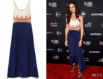 Katie Holmes' Chloé Paneled Midi Dress