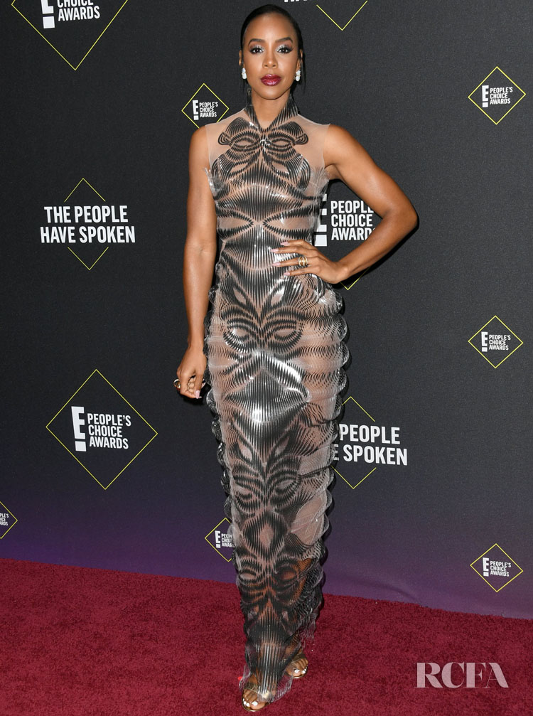 Kelly Rowland In Iris van Herpen Haute Couture – 2019 People's Choice Awards