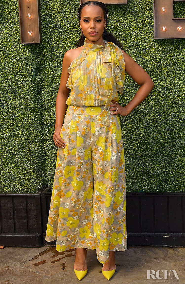 Kerry Washington Brings Vintage Florals To The Indie Contenders Roundtable