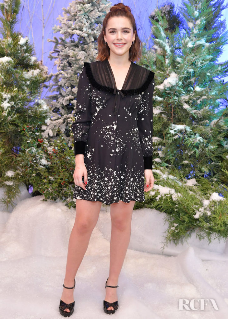Kiernan Shipka Was Seeing Stars In Miu Miu For The 'Let It Snow' Netflix Photocall