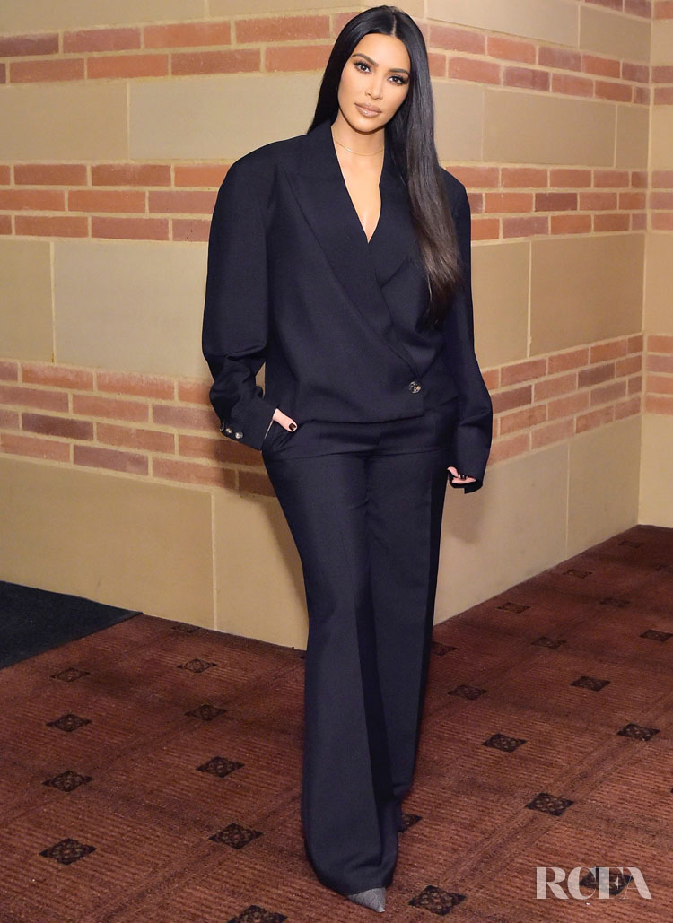 Kim Kardashian Finally Nails The Oversized Suit Trend At The Promise Armenian Institute Event