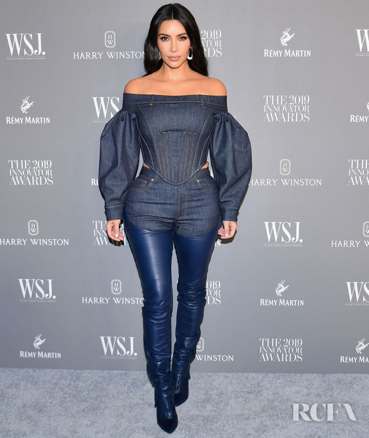 Kim Kardashian's New Take On The Canadian Tuxedo For The WSJ. Magazine 2019 Innovator Awards