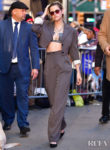 Kristen Stewart Rocks A Cropped Acne Studios' Suit For Good Morning America