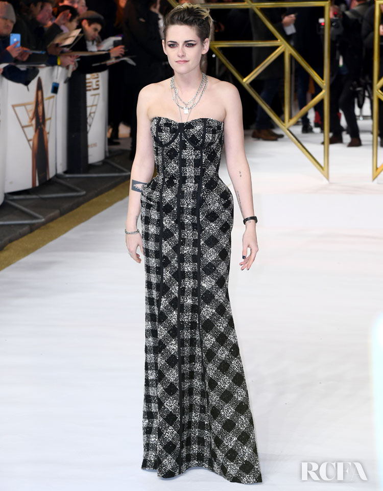 Kristen Stewart Wore Thom Browne To The 'Charlie's Angels' London Premiere