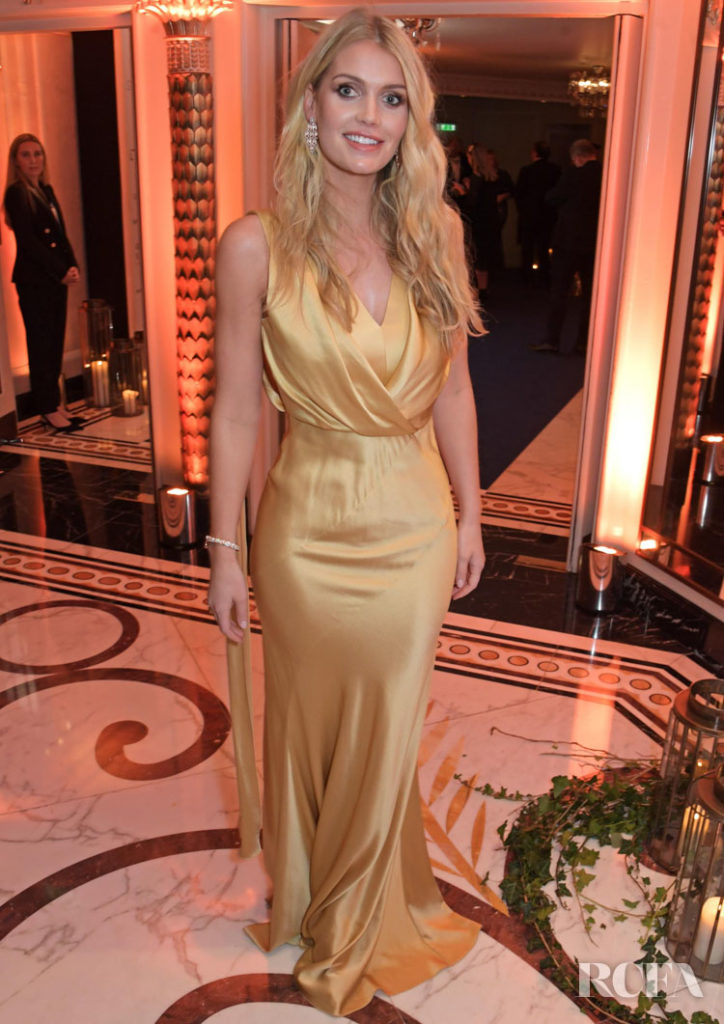 Lady Kitty Spencer Goes For Gold At The 2019 Walpole British Luxury Awards