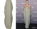 Lara Worthington's The Row Lu Strapless Gown