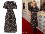 Laura Dern's Giambattista Valli Floral Lace Midi Dress