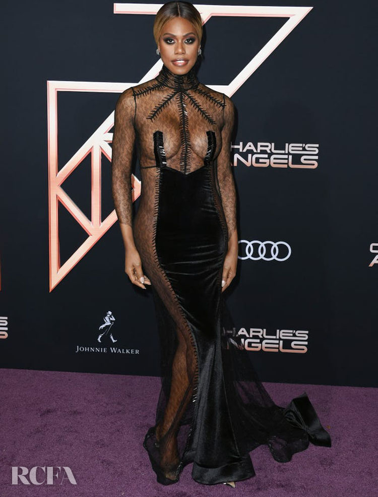 Laverne Cox Wore Hakan Akkaya To The 'Charlie's Angels' LA World Premiere