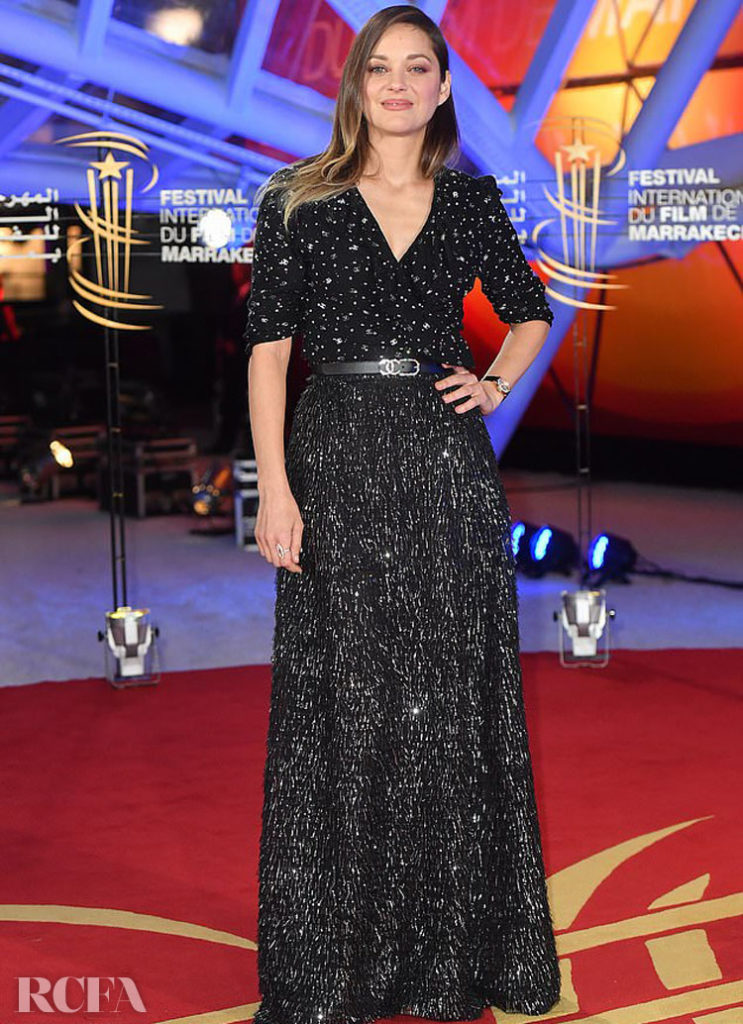 Marion Cotillard's Stars On The Red Carpet For The Marrakech  Film Festival Opening Ceremony