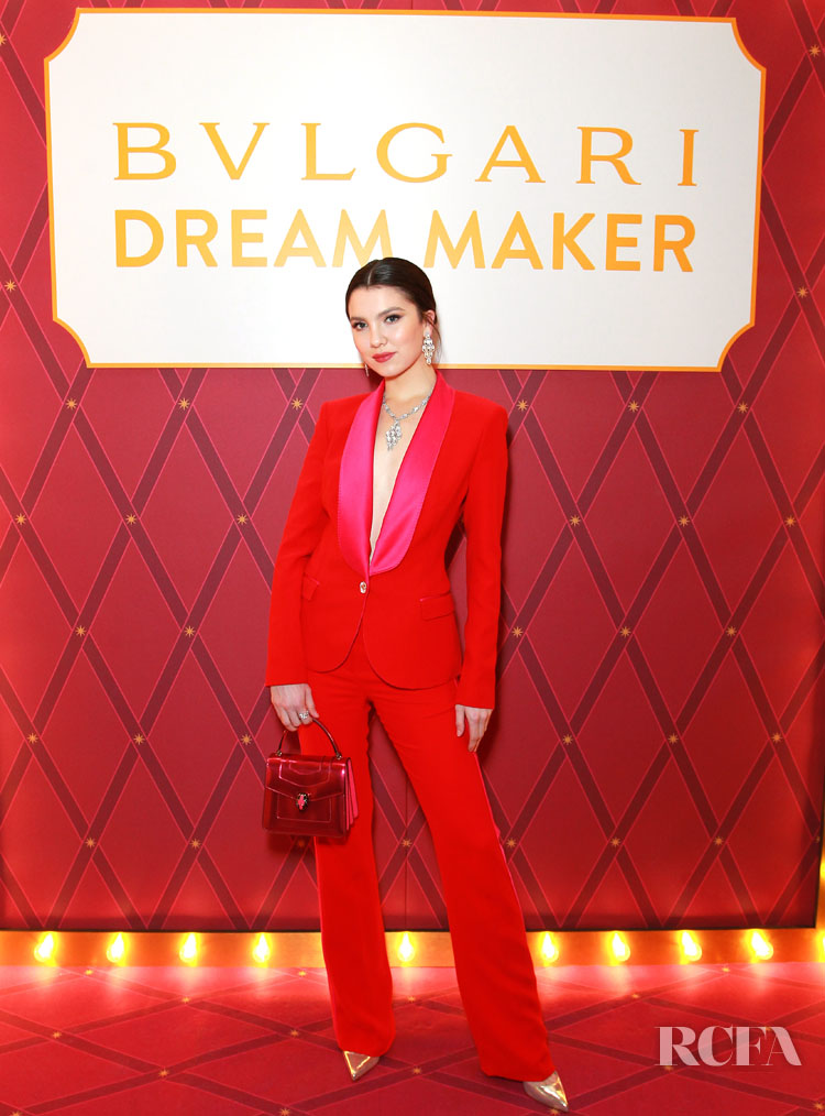 Maya Henry Brings Back The Red & Pink Trend For The Bvlgari & Save The Children Event