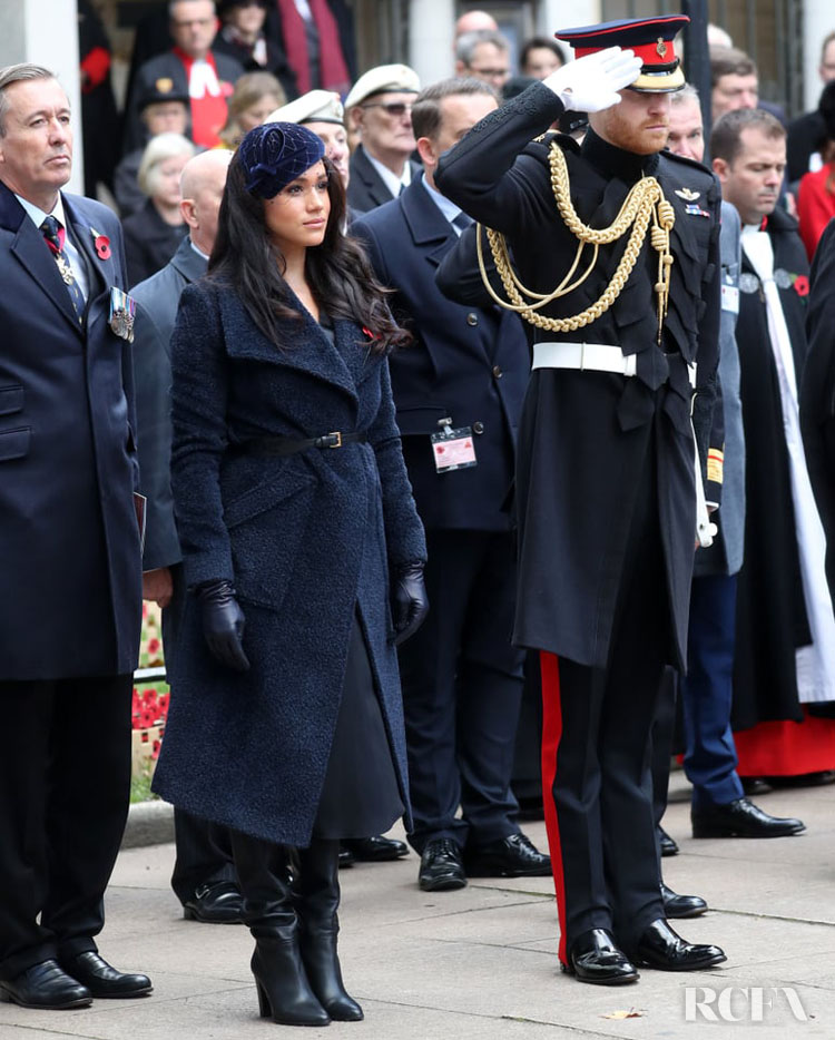 Meghan, Duchess of Sussex First Visit to Westminster Abbey's Field of Remembrance Event
