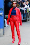 Naomi Scott's Red Moto Alberta Ferretti Look For Good Morning America
