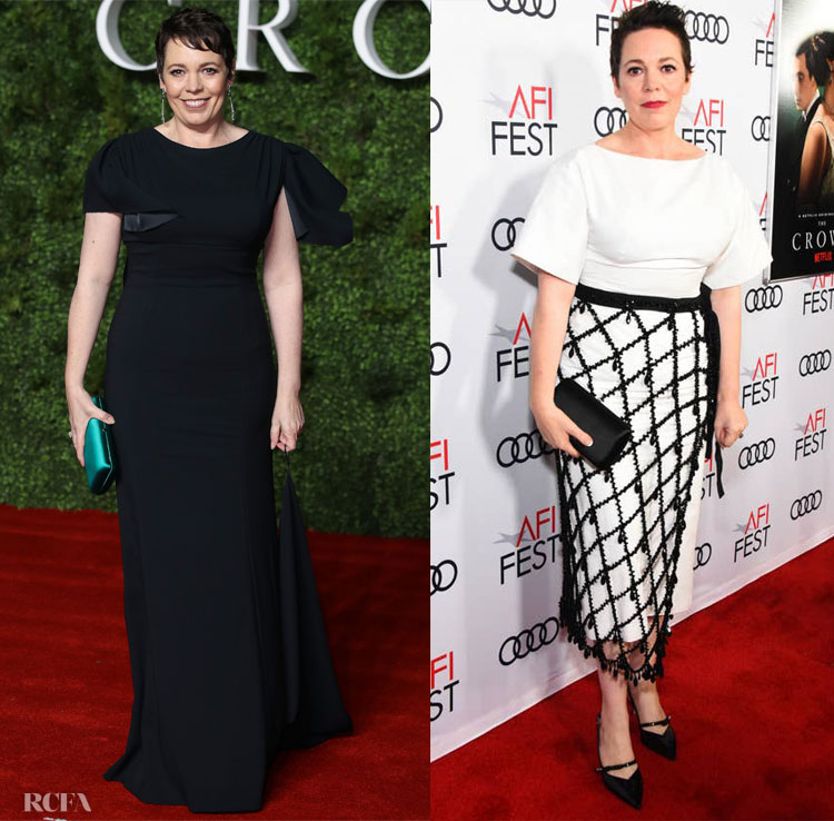 Olivia Colman Wore Prada To The Season 3 London & LA Premiere Of 'The Crown'