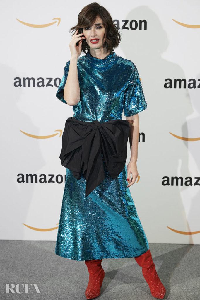 Paz Vega Dazzles In Jorge Vázquez Sequins For The  Amazon Pop-Up Inauguration