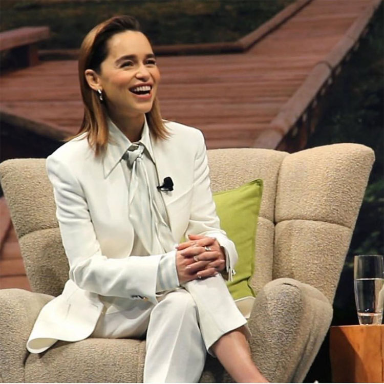 Petar Petrov Is Fast Becoming Emilia Clarke's Go-To For Suiting