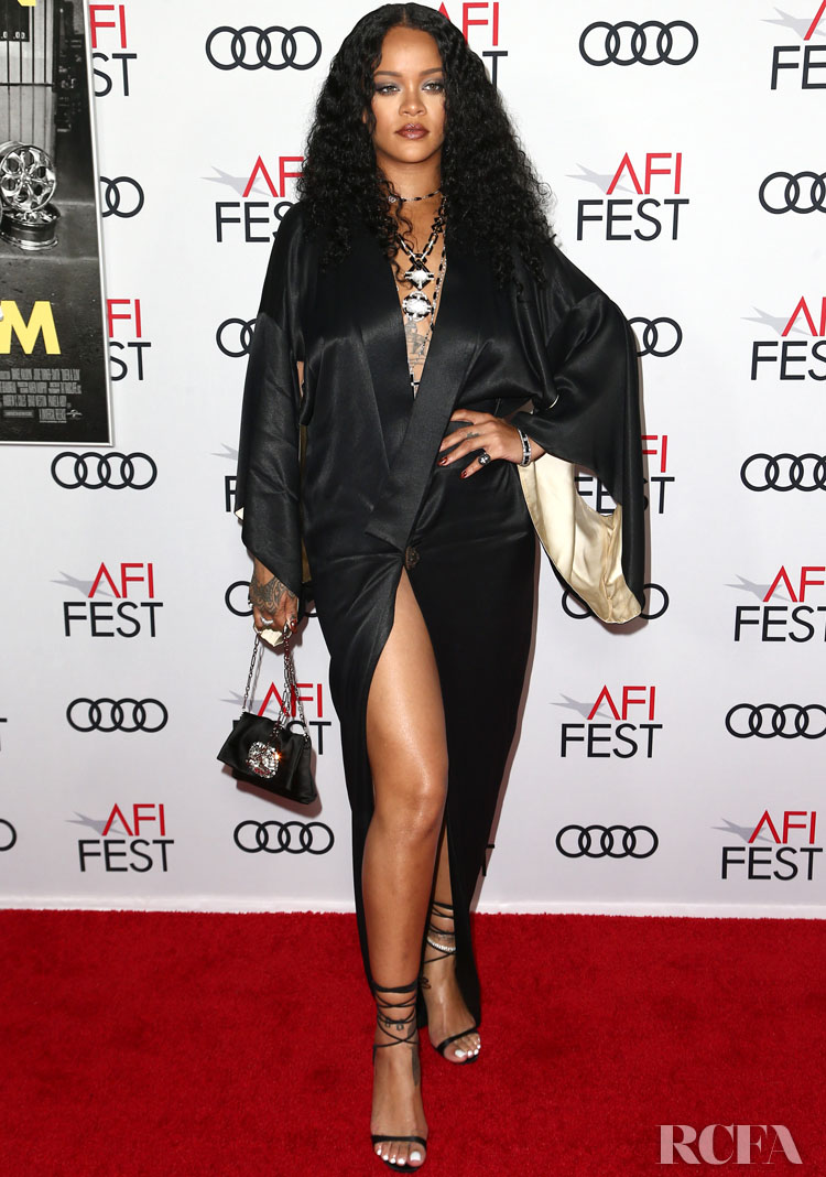 Rihanna Rocked A Vintage Kimono For The 'Queen & Silm' Premiere at AFI FEST 2019