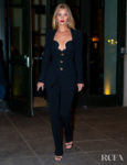 Rosie Huntington-Whiteley Rocks A '90s Style Suit In New York City