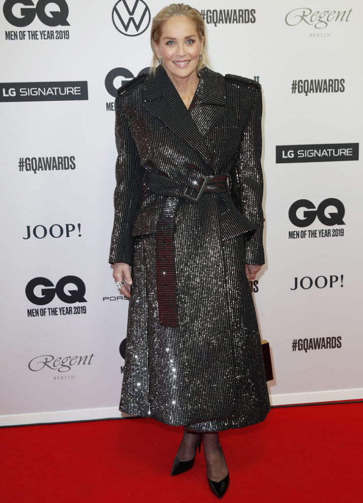 Sharon Stone Saint Laurent Double For The 2019 GQ Men Of The Year Awards