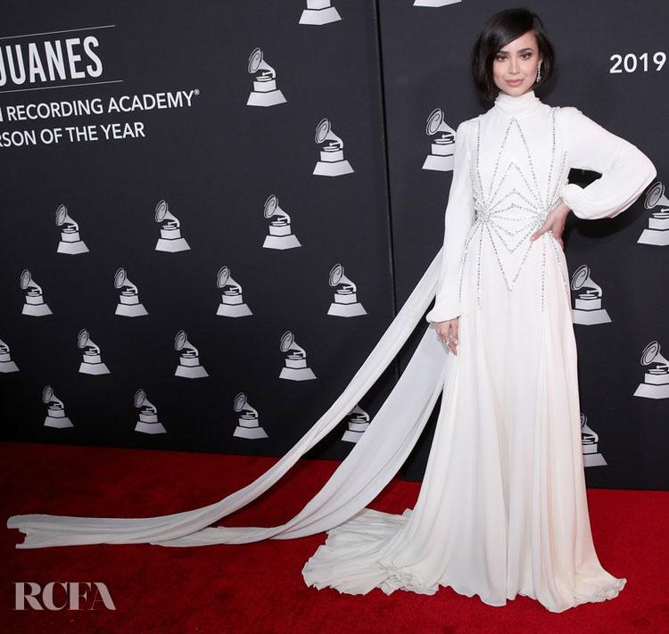 Sofia Carson in  Giambattista Valli Haute Couture  For The Latin Grammys