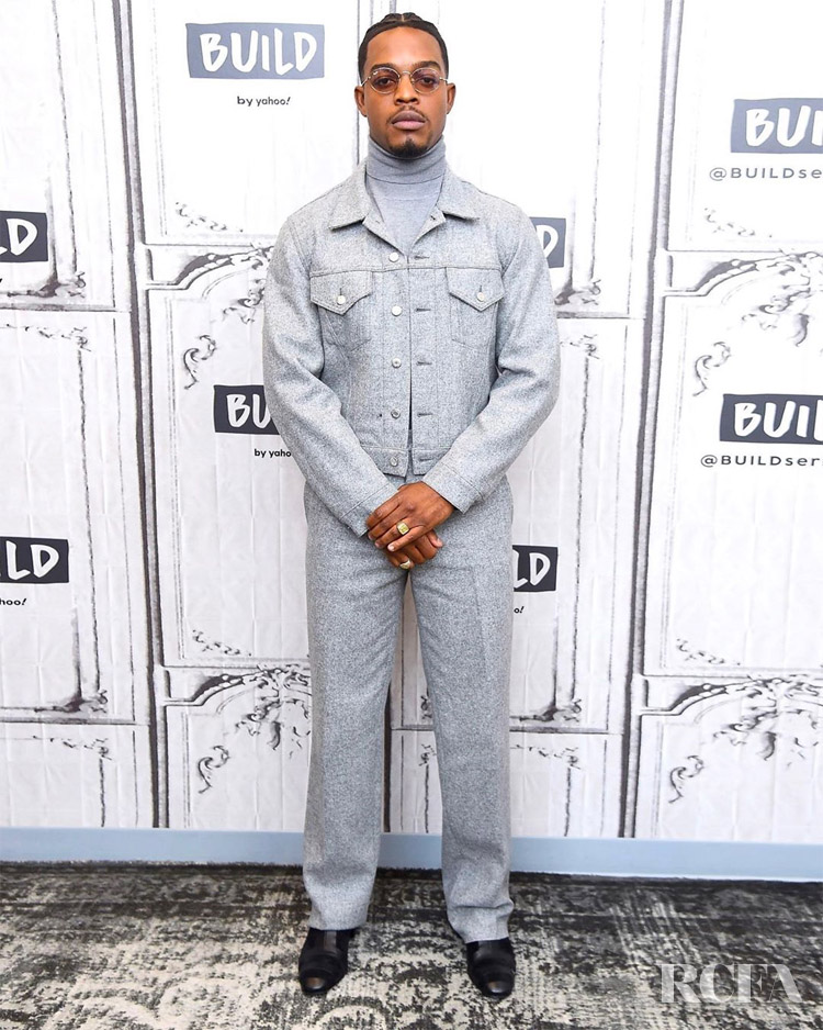 Stephan James Goes Grey For The Build Series Discussion Of '21 Bridges'