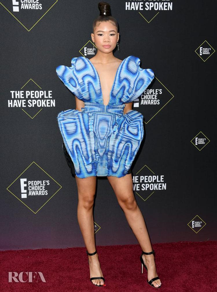 Storm Reid In Iris van Herpen Haute Couture - 2019 People's Choice Awards