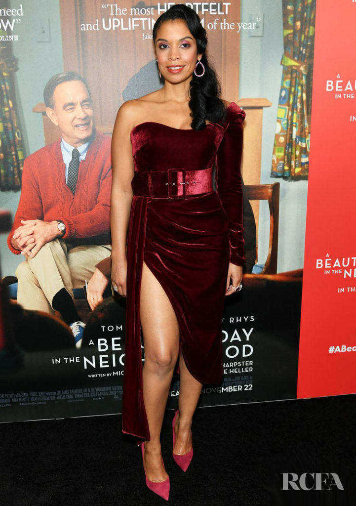 Susan Kelechi Watson's Velvet Touch For The New York Premiere Of 'A Beautiful Day In The Neighborhood'