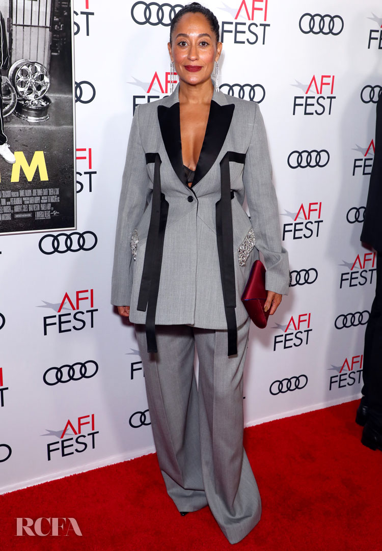 Tracee Ellis Ross' Oversized Suit For The 'Queen & Slim' LA Premiere