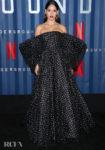 Adria Arjona Wore Armani Prive To Netflix's '6 Underground' New York Premiere