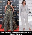 Best Dressed International Star 2019 - Nieves Alvarez
