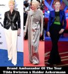 Brand Ambassador Of The Year - Tilda Swinton x Haider Ackermann