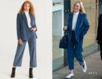 Cate Blanchett's MANGO Corduroy Structured Blazer
