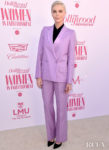 Charlize Theron Wore A Givenchy Suit To The Hollywood Reporter's Annual Women in Entertainment Breakfast Gala